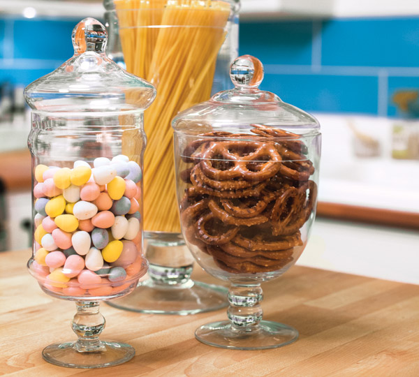 Textured Touches Snack Jars
