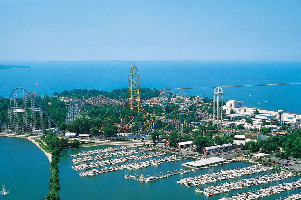 Cedar Point Aerial Shot