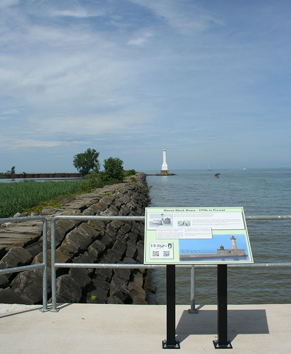 Huron Lighthouse in the distance
