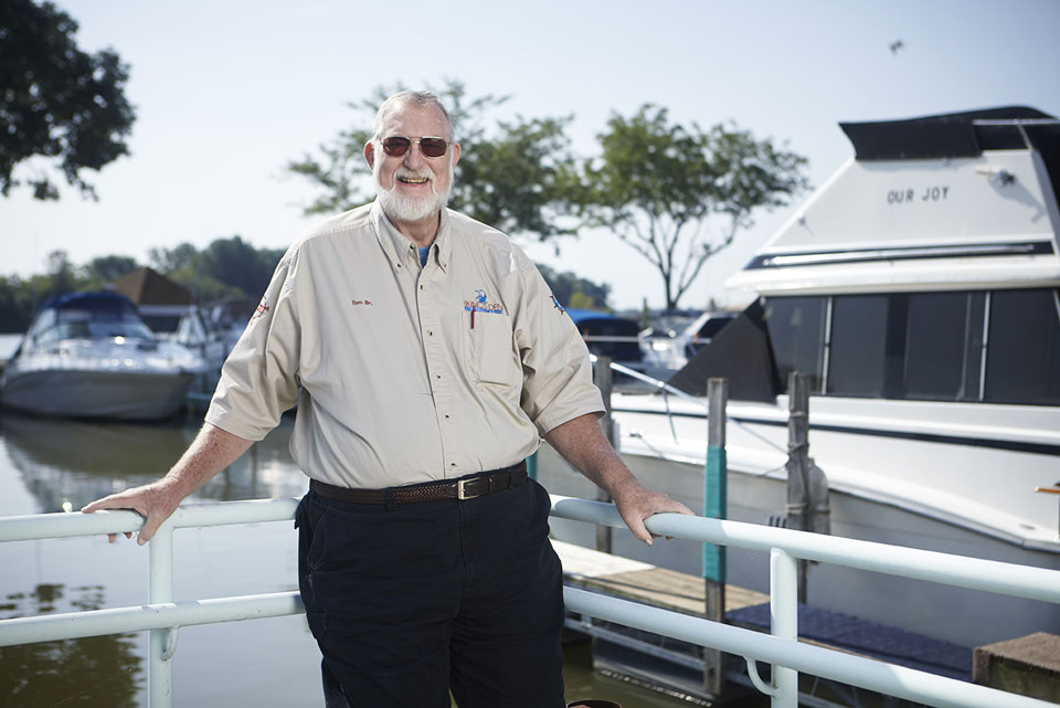 Marina owner Tom Solberg