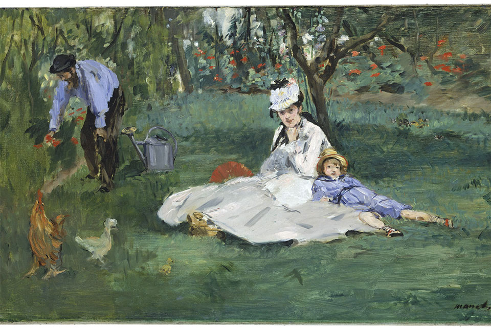 """The Monet Family in Their Garden at Argenteuil"""