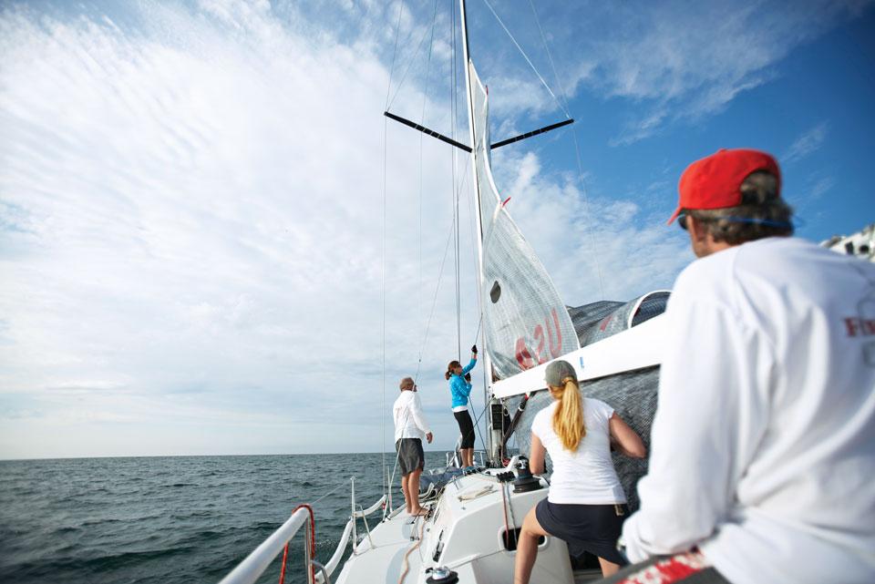 The sailing crew (photo by Kevin Kopanski)