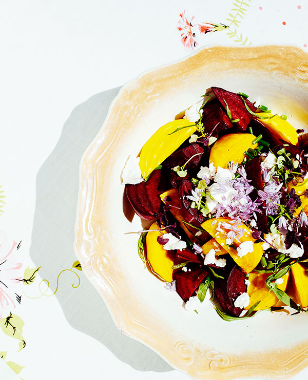 Seasonal roasted beet salad (photo by Casey Rearick)