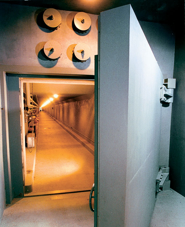 The door of The Greenbrier Bunker