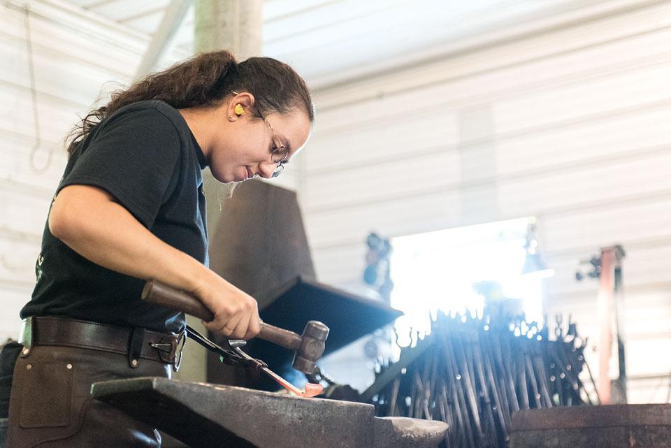 Blacksmith Danielle Russell
