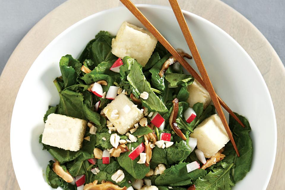 Kung Pao Baby Kale Salad