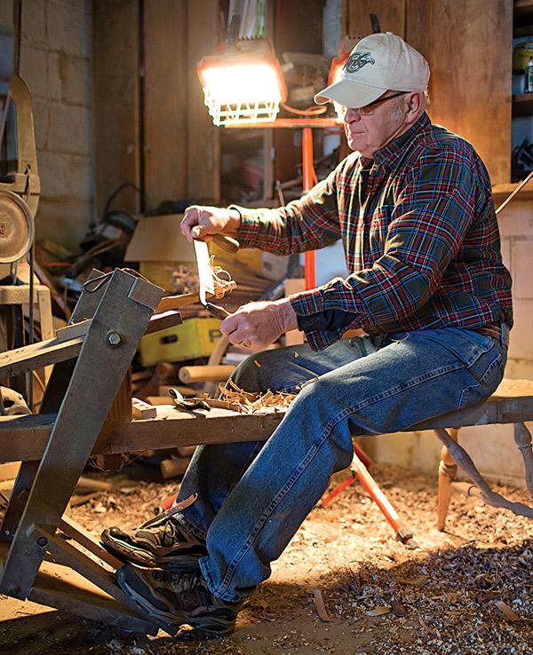Bob Abel in his workshop