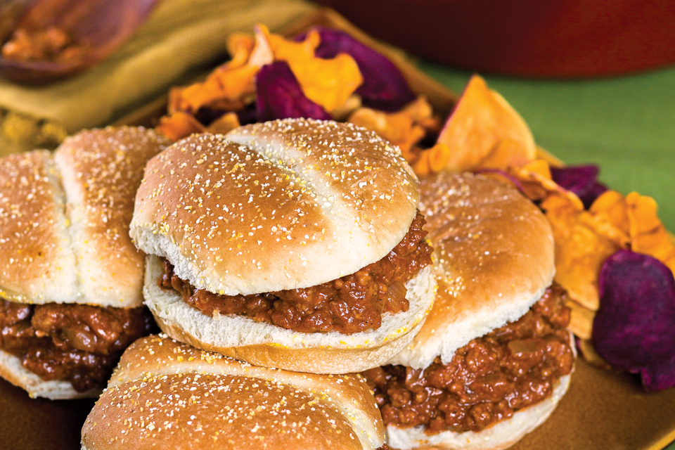 Pumpkin burgers (photo by Maureen MacGregor)