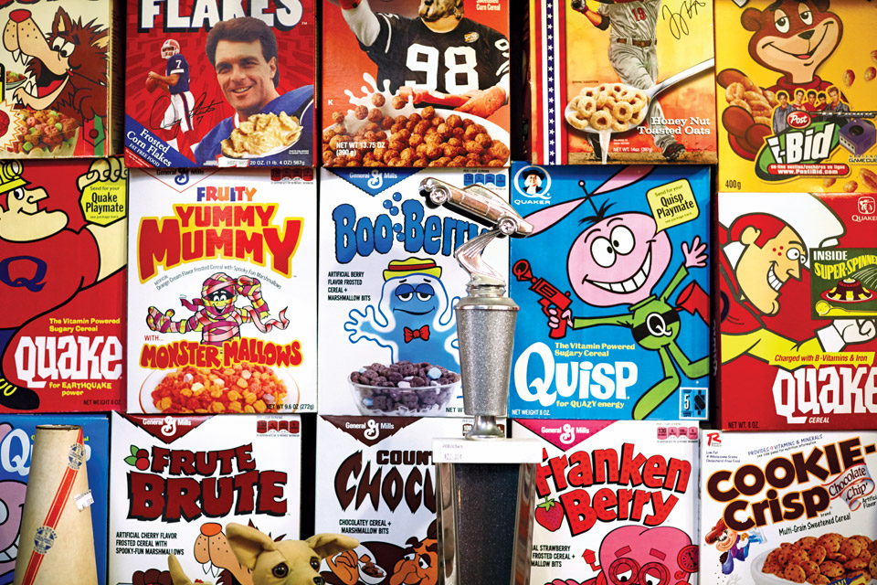 Vintage cereal boxes at Finders Keepers