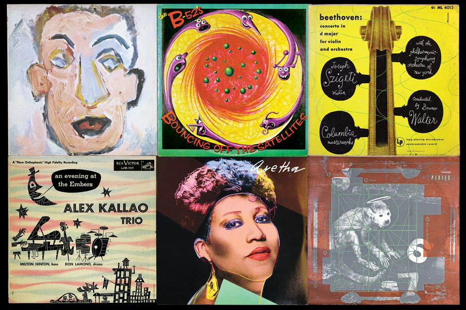 album covers from Columbus exhibition