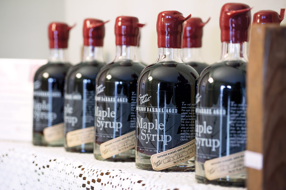 Bissell's bourbon-barrel-aged maple syrup