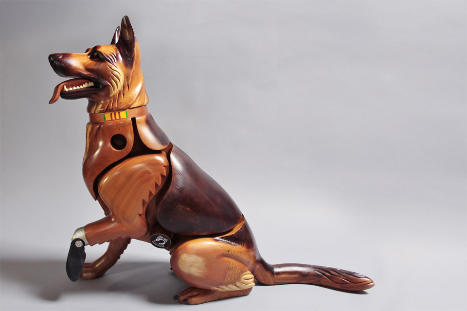 James Mellick dog scuplture