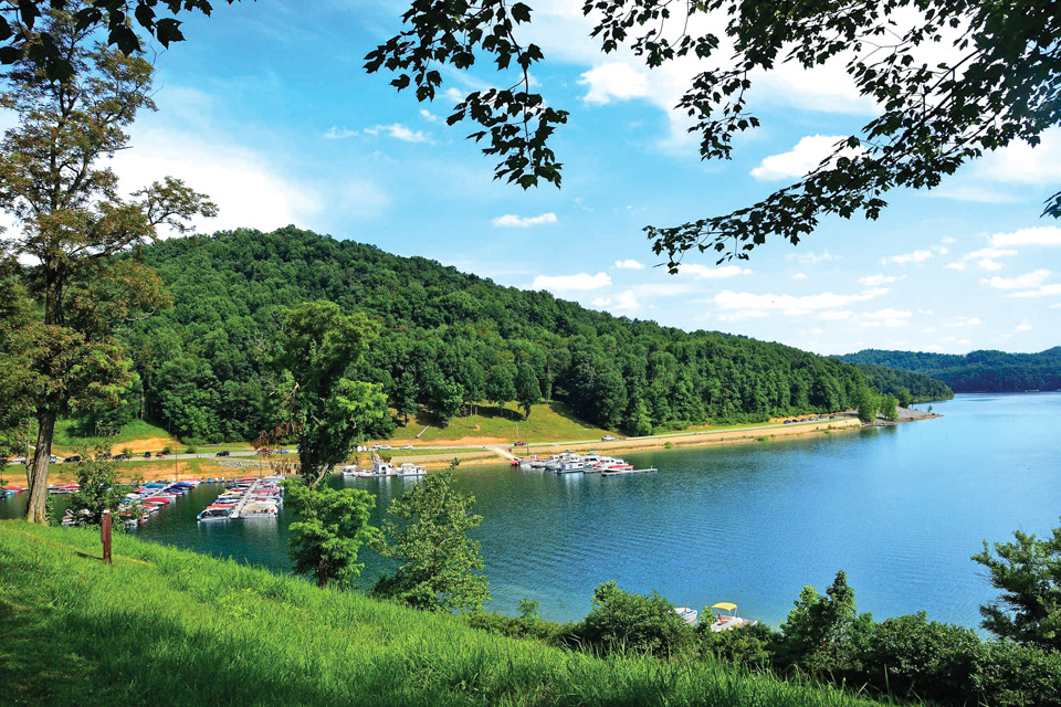 Tygart Lake in West Virginia