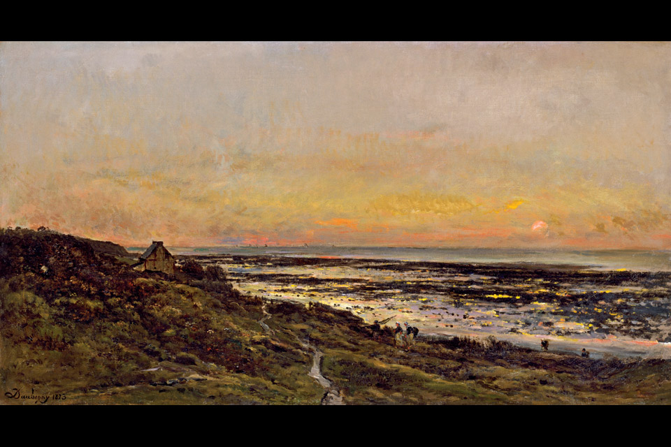 AE_Daubigny-Beach-at-Villerville-at-Sunset