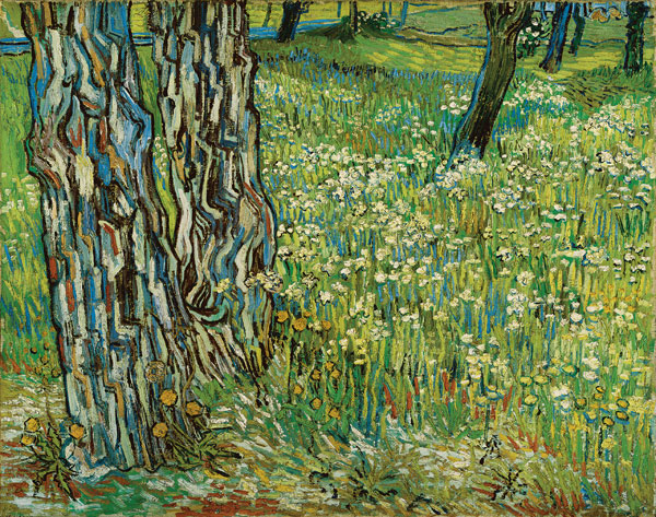 Van Gogh_Tree-Trunks-in-Grass