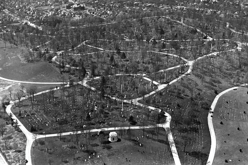 Woodland Cemetery_archive aerial
