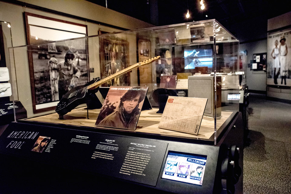 John-Mellencamp-Rock Hall-exhibit display case