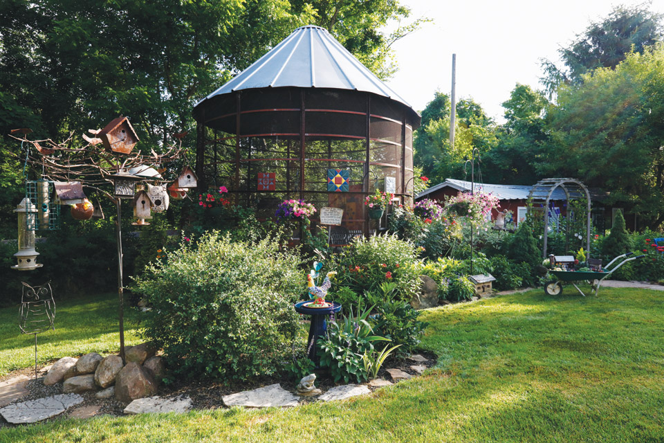 Diana Daily's corncrib turned gazebo