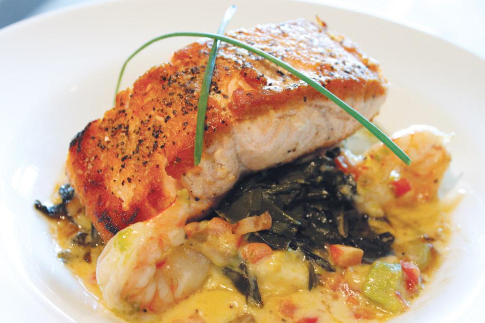 Cinebistro's pan-seared salmon