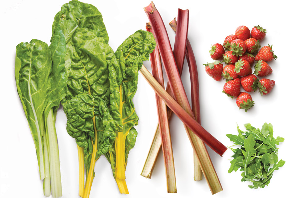 whats-in-season-chard-rhubarb-arugula-strawberries