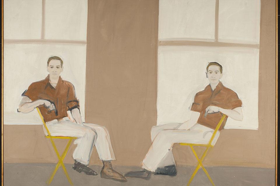 "Alex Katz's ""Double Portrait of Robert Rauschenberg"""