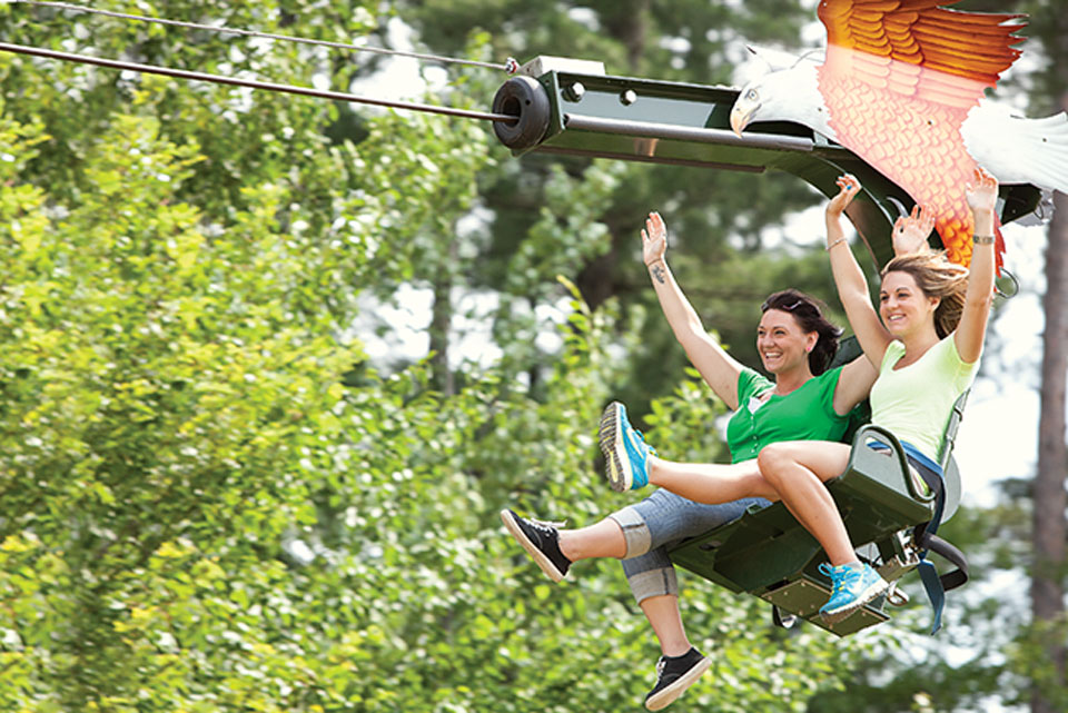 Soaring Eagle Zipline at Peek'n Peak Resort