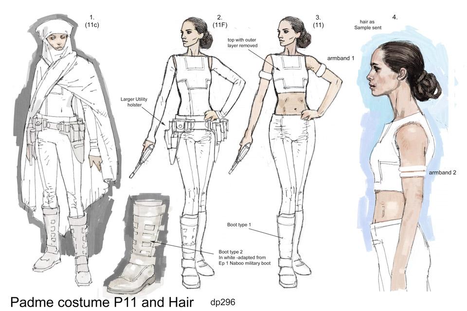 Padme Amidala wardrobe sketch