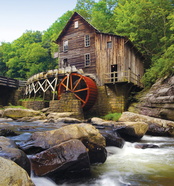 Grist mill at Babcock Park
