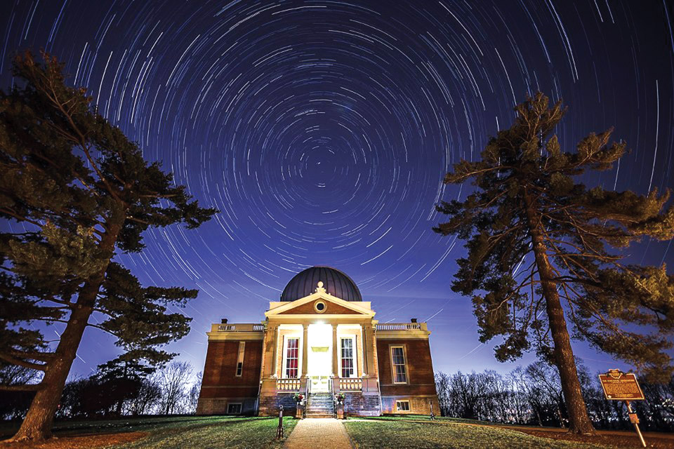 Cincinnati Observatory Center at night