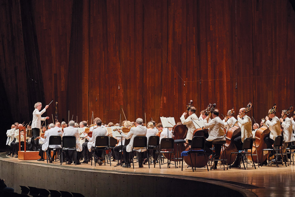 Cleveland Orchestra on stage