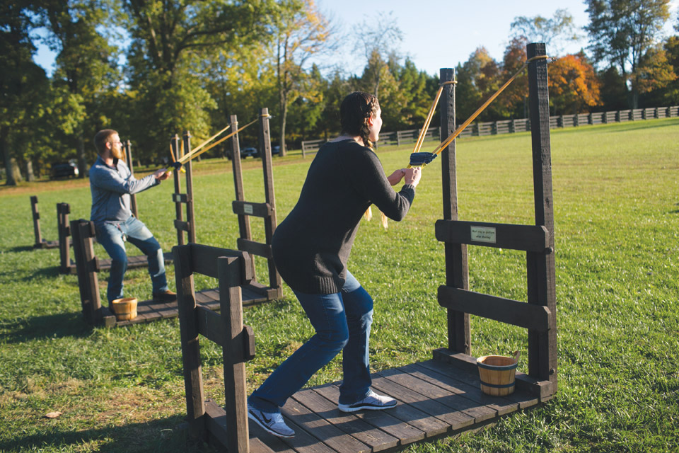 Pumpkin slingshot at Bonnybrook Farms