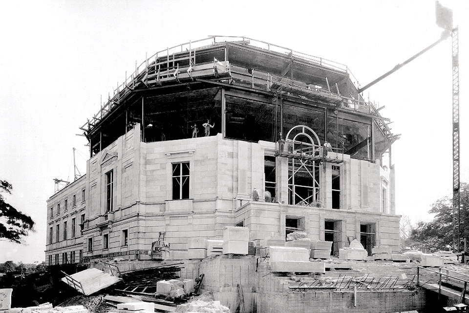 Severance Hall during construction