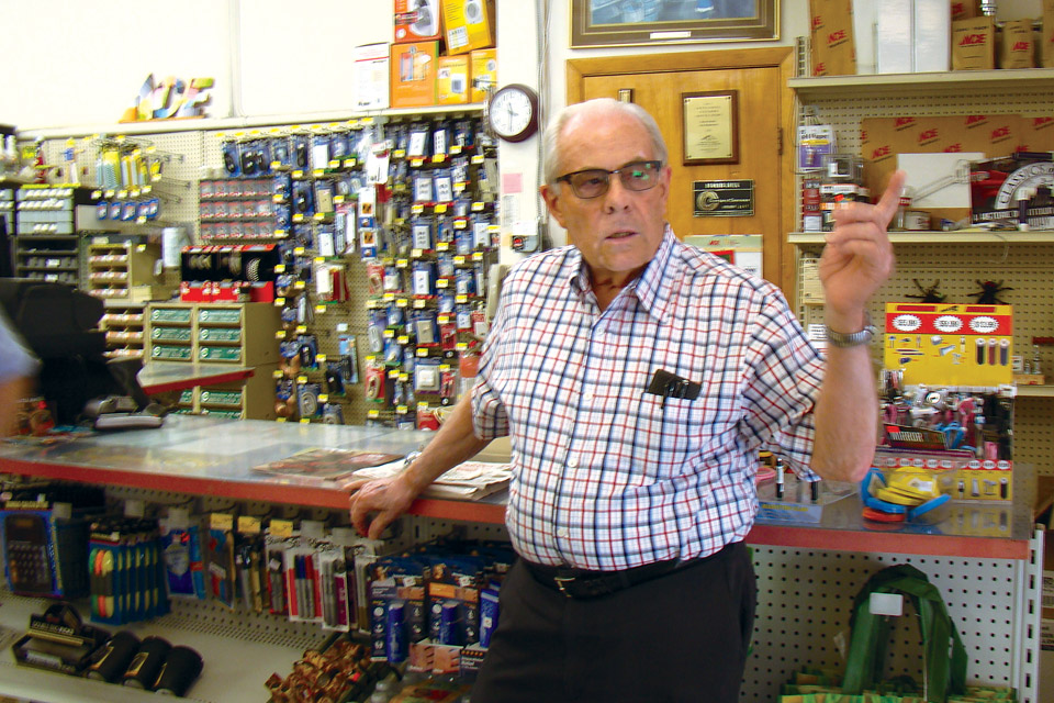 Floyd Craft at his Bowling Green hardware store
