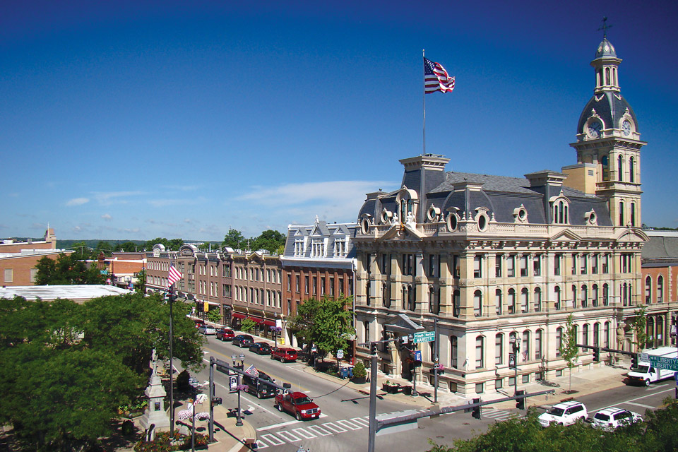 Overview of downtown Wooster