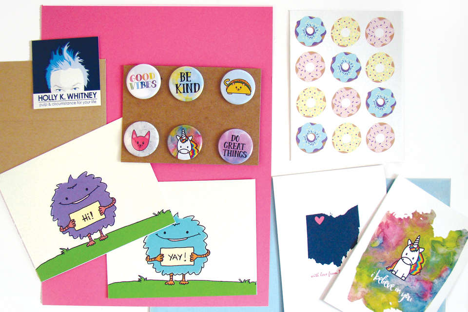 Holly K. Whitney cards and pins