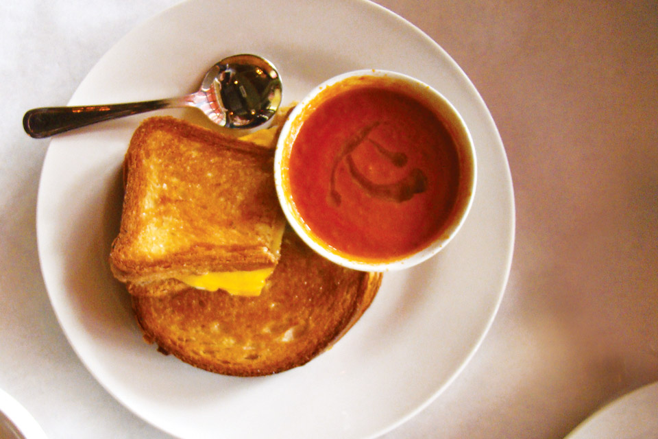 20 Brix's grilled cheese and tomato bisque