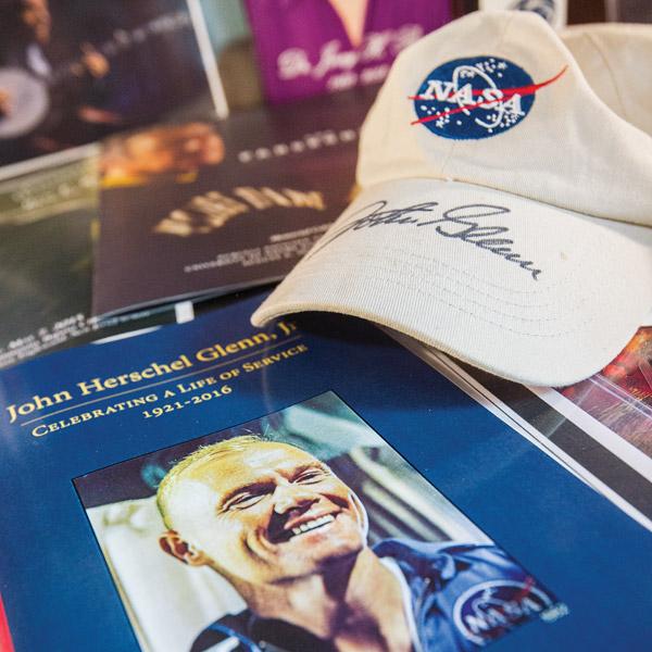 John Glenn memorabilia at Famous Endings