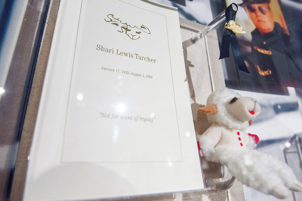 The mini Lamb Chop from Shari Lewis Tarcher's funeral