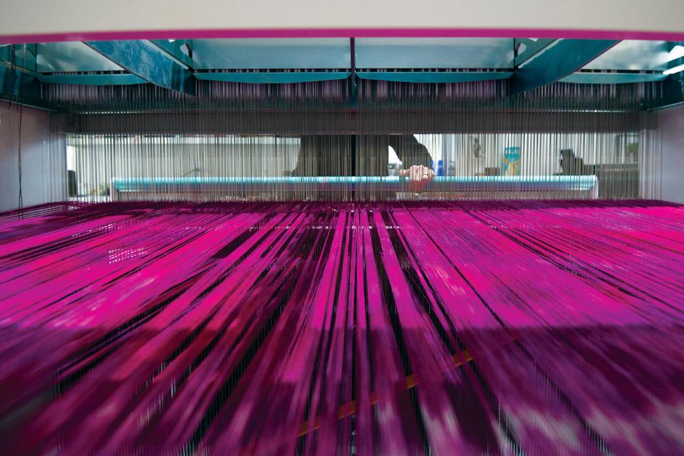 Janice Lessman-Moss loom machine