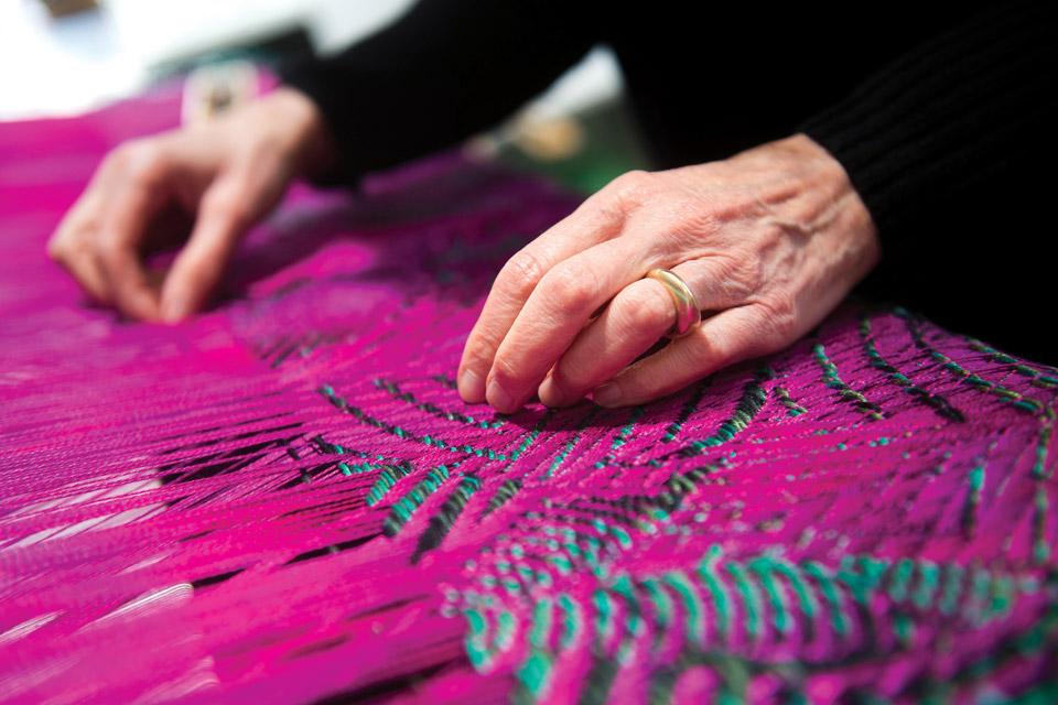 Janice Lessman-Moss weave detail