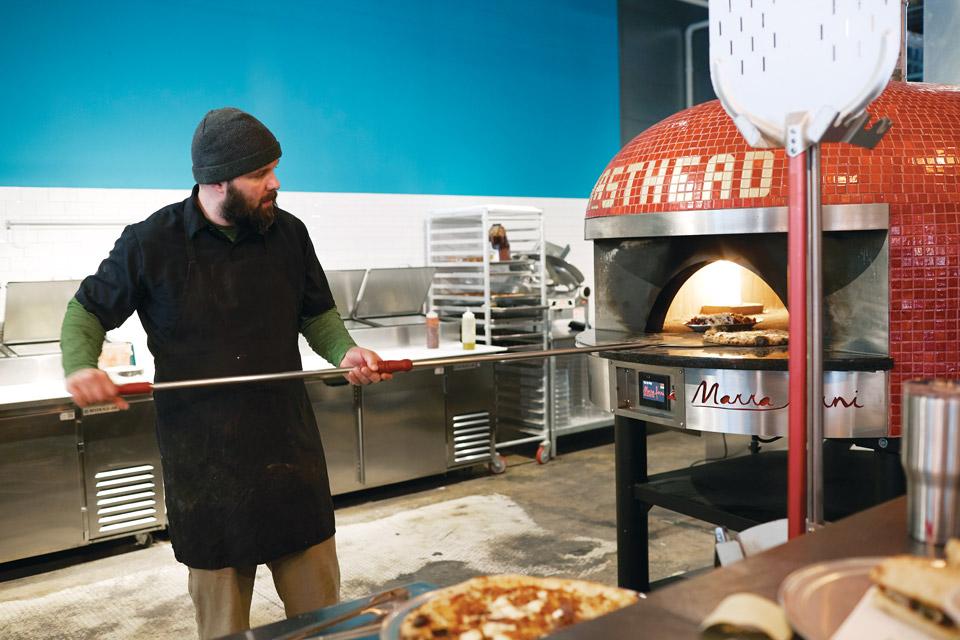 Masthead pizza oven