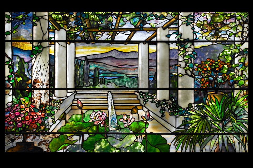 Tiffany-Studios-Garden-landscape-window