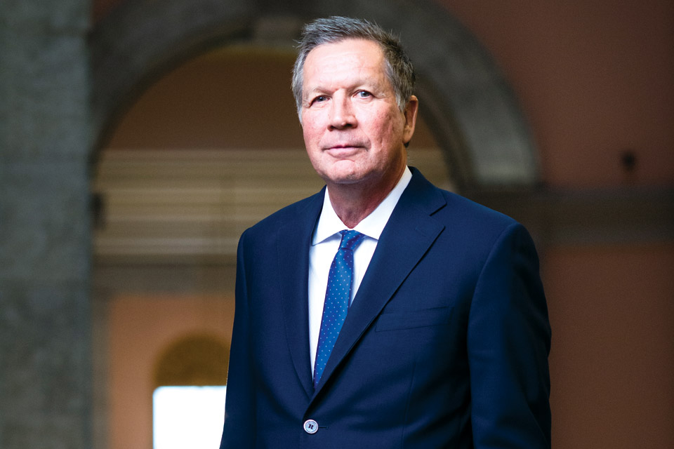 Gov. John Kasich at the Ohio Statehouse