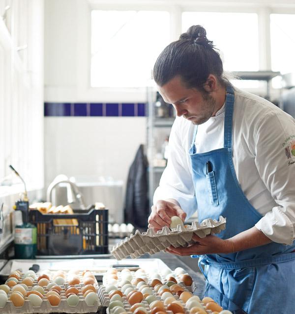 Chef Jamie Simpson works in the kitchen