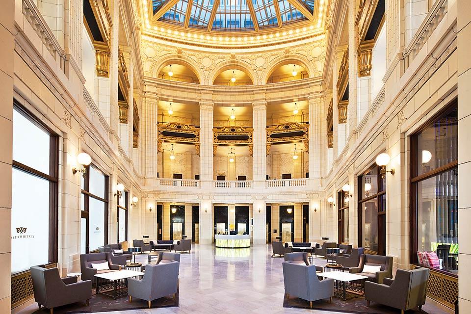 Aloft Detroit Lobby