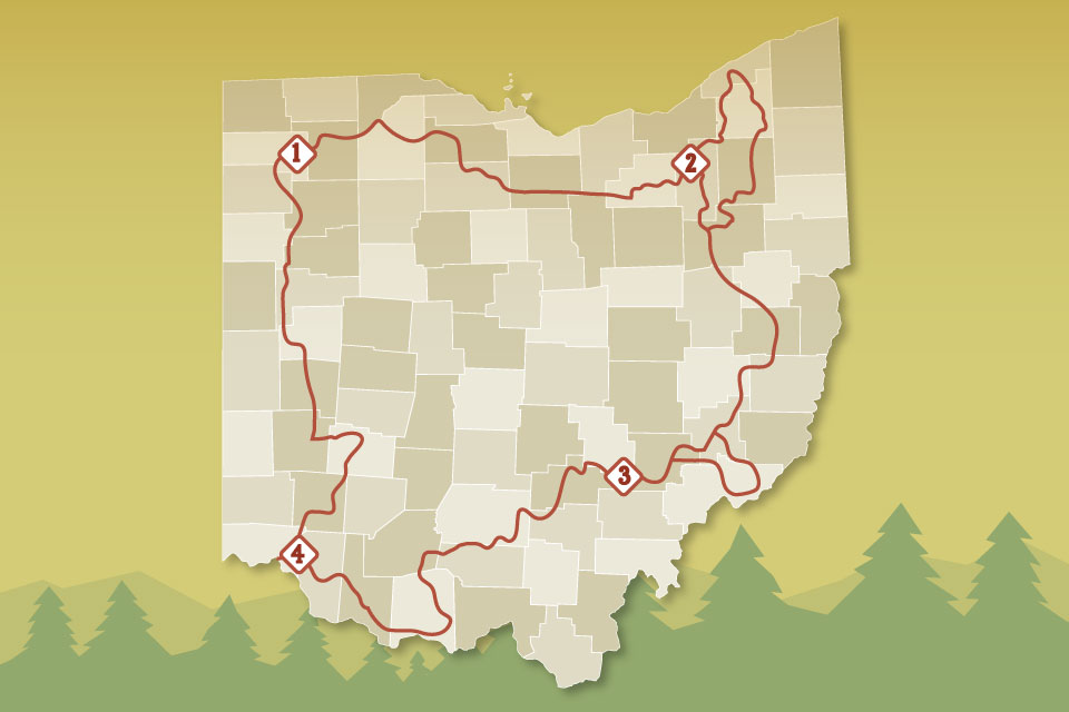 Map of the Buckeye Trail
