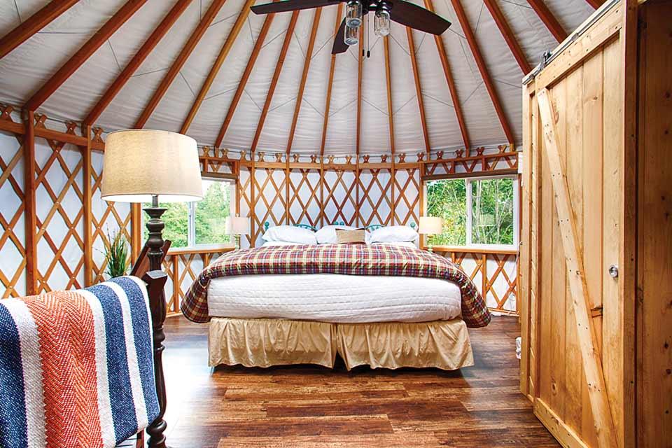 Yurt at the Inn & Spa at Cedar Falls