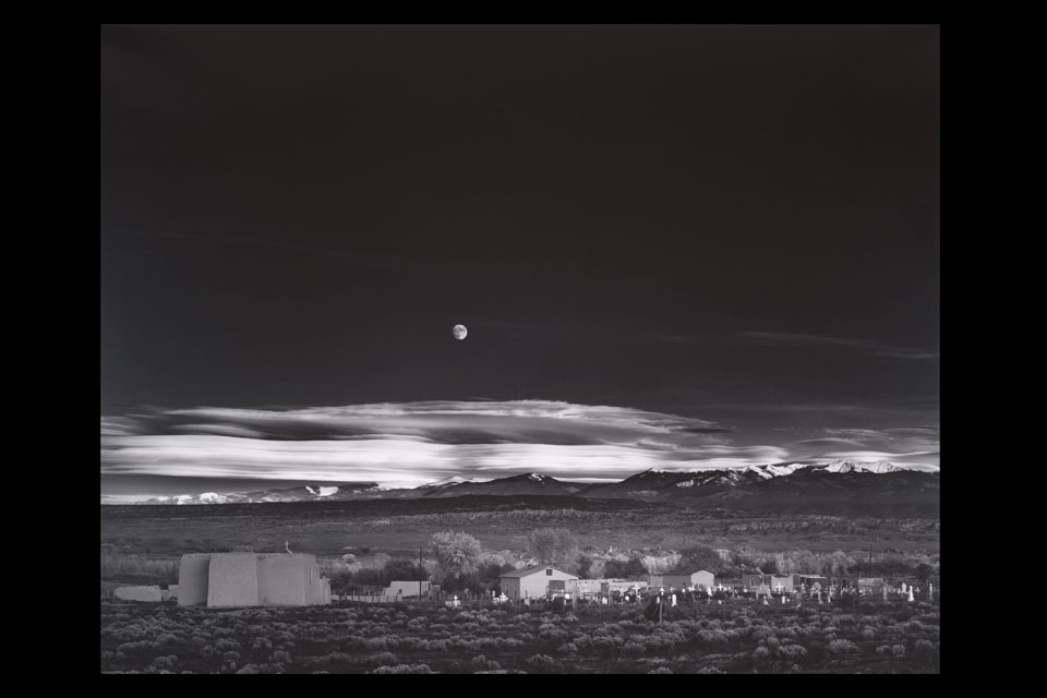 Moonrise Hernandez, New-Mexico, Ansel Adams