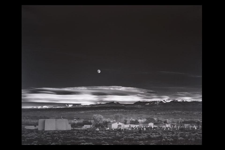 Moonrise Hernandez, New-Mexico, Ansel Adams
