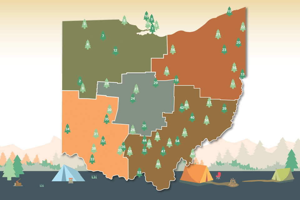 Ohio State Park Campgrounds Map